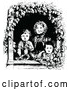 Vector Clip Art of Retro Woman and Children in a Window by Prawny Vintage