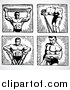 Vector Clipart Body Builder by BestVector