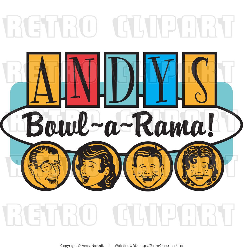 Royalty Free Retro Vector Clip Art of an Andy's Bowl-a ...