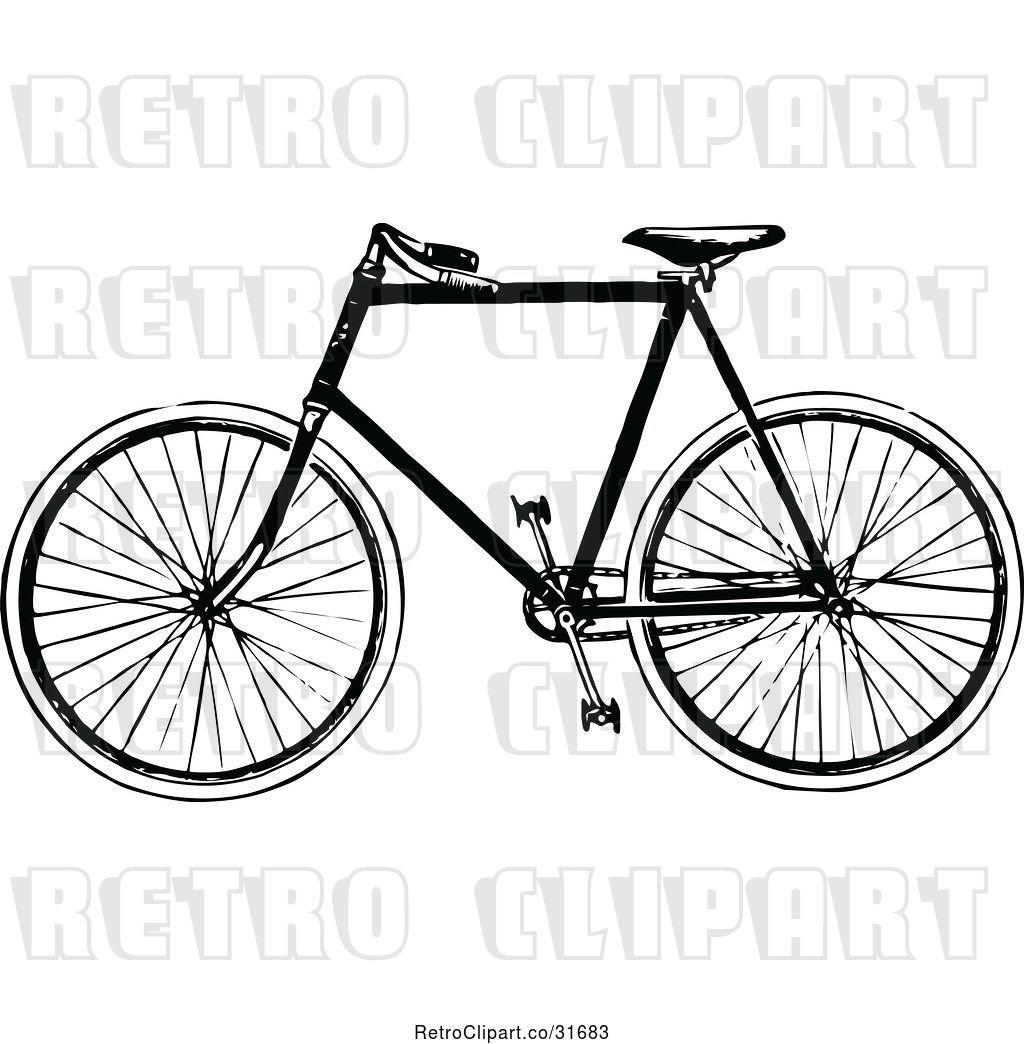 Vector Clip Art of Retro Bicycle 2 by Prawny Vintage - #31683