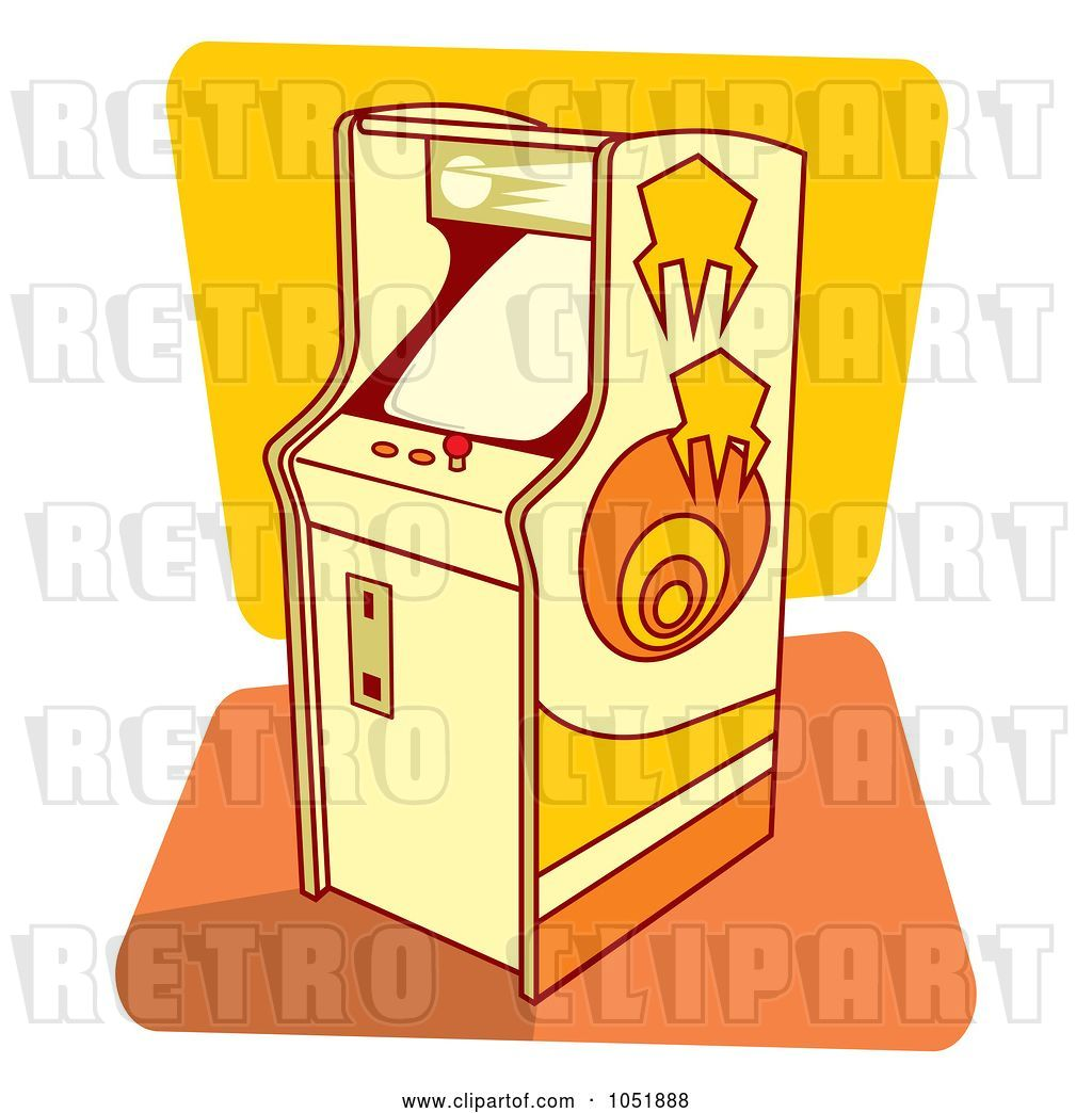 Vector Clip Art Of Retro Cartoon Arcade Game Machine By Any