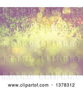 Clip Art of Retro 3d Green Leafy Vine over Flares, with a Filter by KJ Pargeter