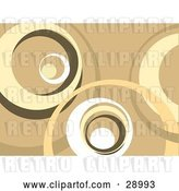 Clip Art of Retro Brown, Tan and White Background of Large Circles by KJ Pargeter