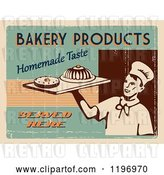 Clip Art of Retro Distressed Bakery Poster with Sample Text by Eugene