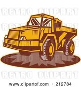 Clip Art of Retro Dump Truck Logo by Patrimonio