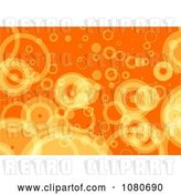 Clip Art of Retro Orange Bubble Background by Prawny