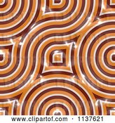 Clip Art of Retro Seamless Orange Truchet Tile Texture Background Pattern Version 3 by Ralf61