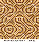 Clip Art of Retro Seamless Orange Truchet Tile Texture Background Pattern Version 4 by Ralf61