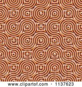 Clip Art of Retro Seamless Orange Truchet Tile Texture Background Pattern Version 5 by Ralf61