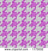 Clip Art of Retro Seamless Pink and White Houndstooth Pattern by Arena Creative