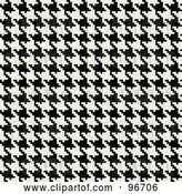 Clip Art of Retro Tight Houndstooth Pattern Texture Background by Arena Creative