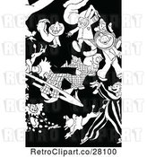 Vector Clip Art of Circus Clowns by Prawny Vintage