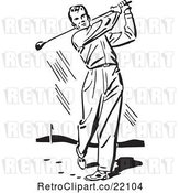 Vector Clip Art of Male Golfer by BestVector