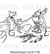 Vector Clip Art of Mouse Friends Talking by Prawny Vintage