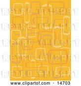 Vector Clip Art of Retro Abstract Orange Background with Boxes Clipart Illustration by Andy Nortnik