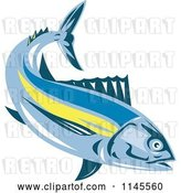 Vector Clip Art of Retro Albacore Tuna Fish by Patrimonio