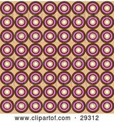 Vector Clip Art of Retro Background of Brown, Pink and White Squares in Rows by KJ Pargeter