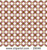 Vector Clip Art of Retro Background of Brown, White and Pink Floral Patterned Wallpaper by KJ Pargeter