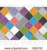 Vector Clip Art of Retro Background of Colorful Diamonds by KJ Pargeter