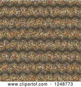 Vector Clip Art of Retro Background of Colorful Dot Waves on Brown by KJ Pargeter