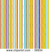 Vector Clip Art of Retro Background of Colorful Stripes by Michaeltravers