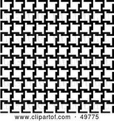 Vector Clip Art of Retro Background of Houndstooth Patterns by Arena Creative
