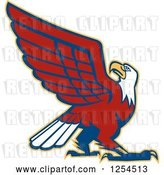Vector Clip Art of Retro Bald Eagle by Patrimonio