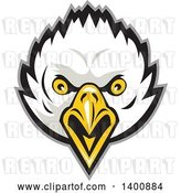 Vector Clip Art of Retro Bald Eagle Head by Patrimonio