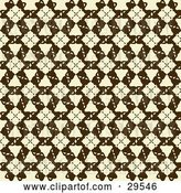 Vector Clip Art of Retro Beige and Brown Patterned Wallpaper Design by KJ Pargeter