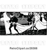 Vector Clip Art of Retro Bridal Procession by Prawny Vintage