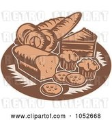 Vector Clip Art of Retro Brown Bakery Logo by Patrimonio
