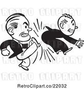 Vector Clip Art of Retro Business Man Kicking Another in the Butt by BestVector