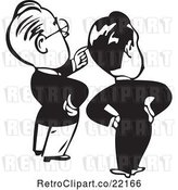 Vector Clip Art of Retro Business Men Looking and Pointing by BestVector