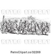 Vector Clip Art of Retro Busy Mail Train in by Picsburg