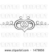 Vector Clip Art of Retro Calligraphic Wedding Band Design Element by Frisko