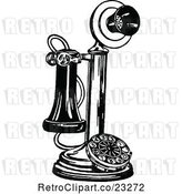 Vector Clip Art of Retro Candlestick Phone by Prawny Vintage