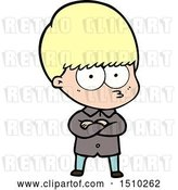 Vector Clip Art of Retro Cartoon Annoyed Boy by Lineartestpilot