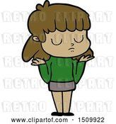 Vector Clip Art of Retro Cartoon Indifferent Lady by Lineartestpilot