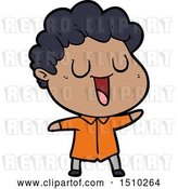 Vector Clip Art of Retro Cartoon Laughing Guy by Lineartestpilot