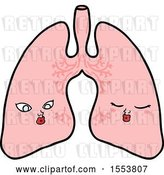 Vector Clip Art of Retro Cartoon Lungs by Lineartestpilot