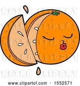 Vector Clip Art of Retro Cartoon Orange by Lineartestpilot