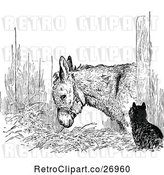Vector Clip Art of Retro Cat and Donkey by Prawny Vintage