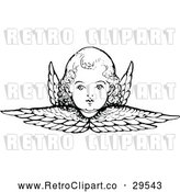 Vector Clip Art of Retro Cherub and Wings by Prawny Vintage