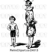 Vector Clip Art of Retro Circus Boy and Clown by Prawny Vintage