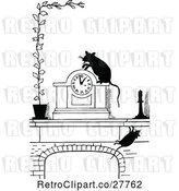 Vector Clip Art of Retro Clock and Rats by Prawny Vintage