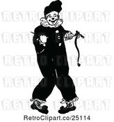 Vector Clip Art of Retro Clown by Prawny Vintage