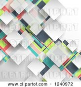 Vector Clip Art of Retro Colorful Geometric Background by KJ Pargeter