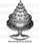 Vector Clip Art of Retro Conical Dessert Cake by Prawny Vintage