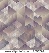 Vector Clip Art of Retro Cubic Geometric Background by KJ Pargeter