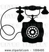 Vector Clip Art of Retro Desk Telephone 1 by Vector Tradition SM